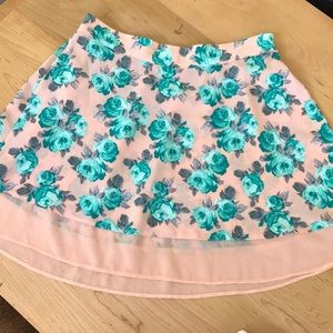 Spring high waisted skirt